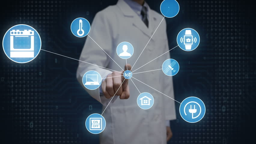 Scientist, engineer touching screen, IoT technology connect global world map. dots makes world map, internet of things.2. | Shutterstock HD Video #28165729