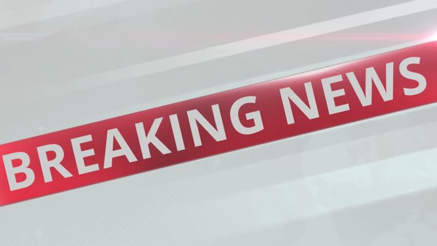 Animation breaking news live report presentation title for television or media program. Breaking news broadcast with world map background in modern global concept 4k