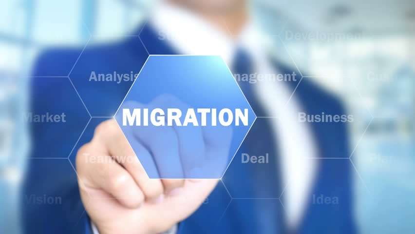 Migration, Man Working on Holographic Interface, Visual Screen | Shutterstock HD Video #28214944