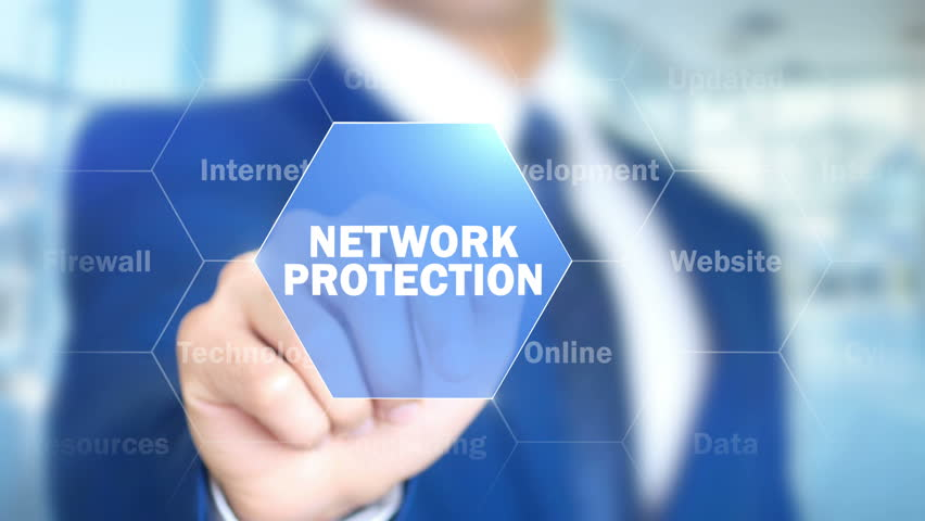 Network Protection, Man Working on Holographic Interface, Visual Screen | Shutterstock HD Video #28228474