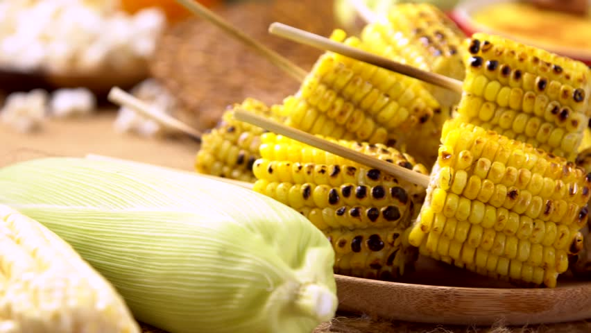 Delicious boiled corn on sale on the streets of bangkok thailand grilled corn and corn cake on the table with typical brazilian junina food 4k stock ccuart Choice Image