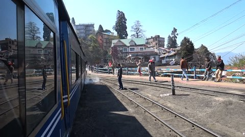 India, Darjeeling, March 2017, travel with the famous mountain railway called Toy Train