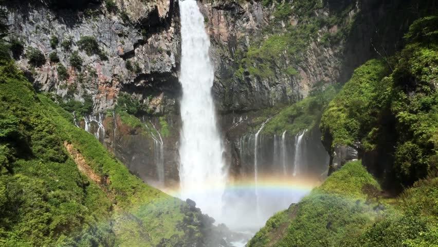 Waterfall with rainbow      | Shutterstock HD Video #28242439