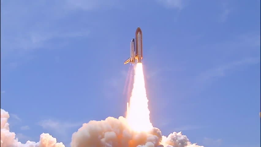 2010s: The Space Shuttle Atlantis lifts off from Cape Canaveral, Florida.