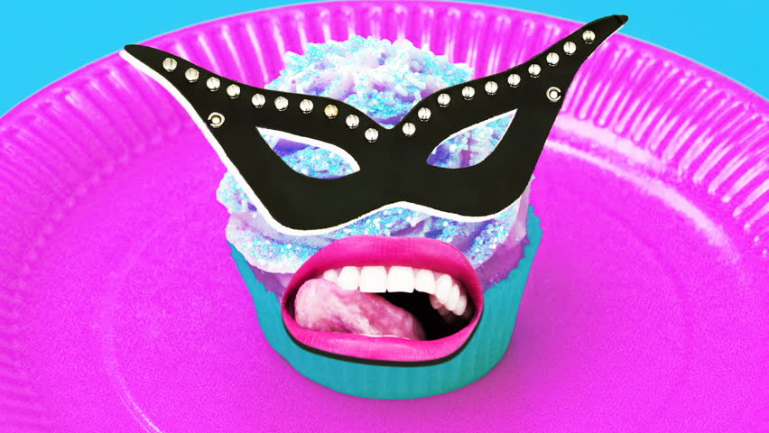 Monster Cake. Crazy party Masquerade. Minimal art
