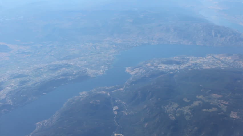 A cool aerial shot flying over West Kelowna and Lake Okanagan in the British Columbia interior.