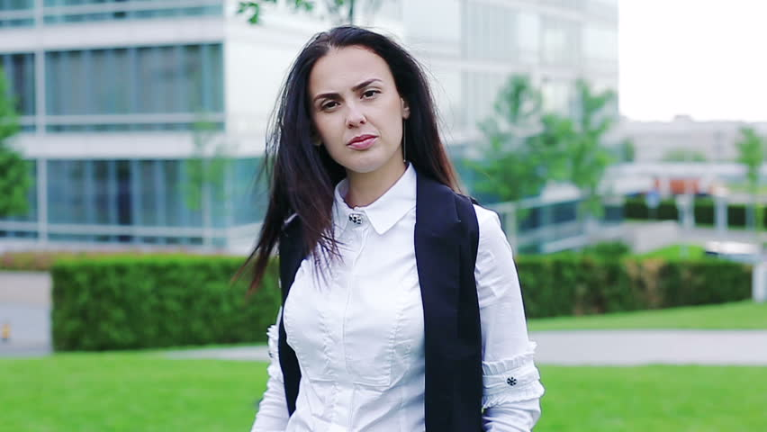 Portrait of a serious businesswoman looking in the camera | Shutterstock HD Video #28341739