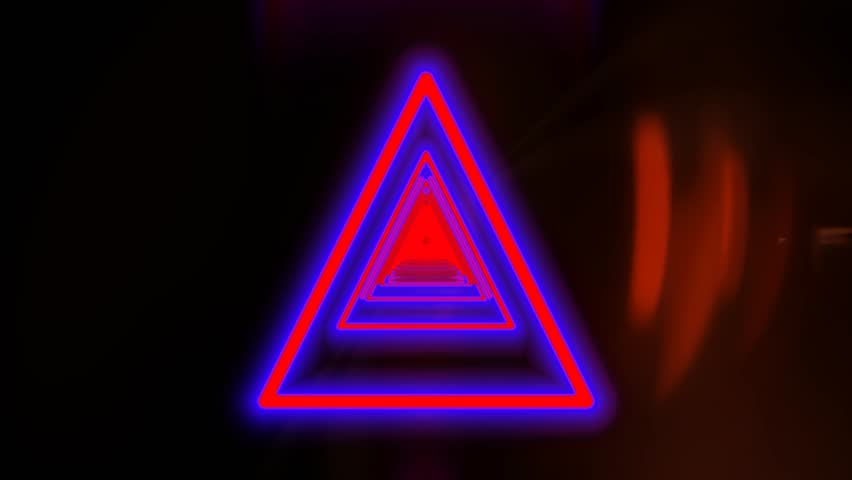 Colorful triangle shape disco party background | Shutterstock HD Video #28350139