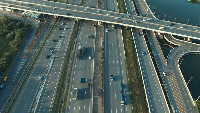 Aerial view of traffic on motorway bangkok thailand | Shutterstock HD Video #28373269