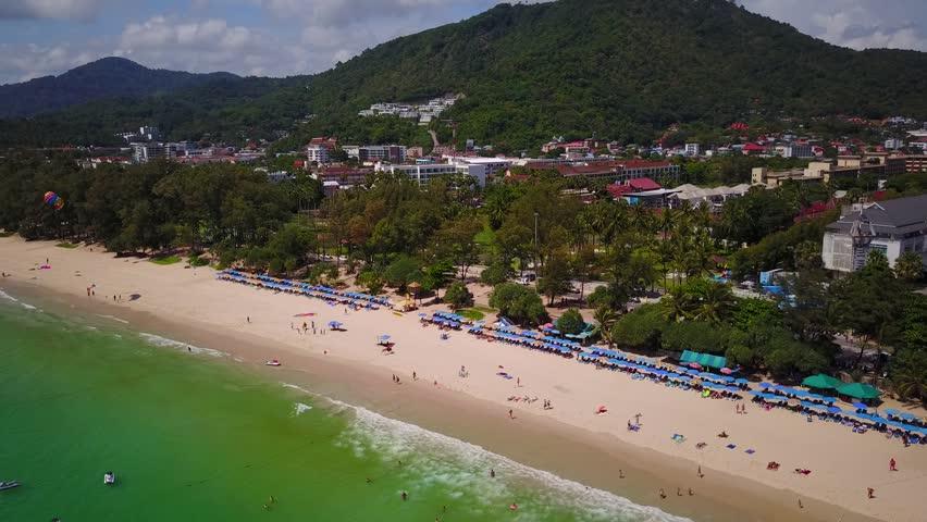 Kata Beach At Phuket Island Stock Footage Video 100 Royalty Free 28410169 Shutterstock