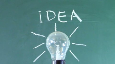 Chalk Light Bulb Stock Video Footage 4K And HD Video Clips