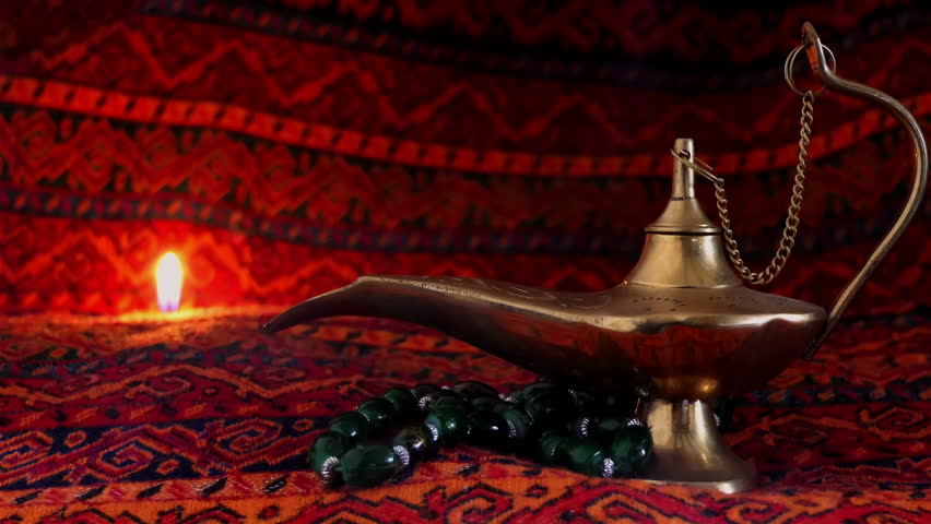 Old Arabic Lamp With Smoke Stock Footage Video 100