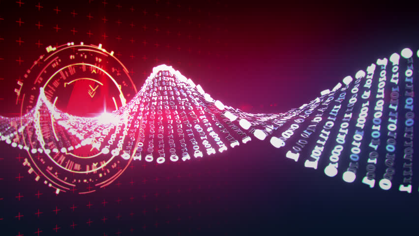 Artificial binary DNA double helix molecule data read  loop ready horizontal movement | Shutterstock HD Video #28510063