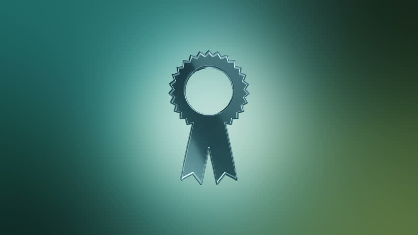 Prize ribbon blueprint stop motion style animation stock footage 3d animation rotation of symbol of holidays and celebration from glass animation of seamless loop malvernweather Images