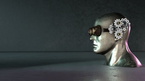 Steampunk Head gear animation background