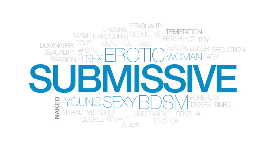 Submissive animated word cloud, text design animation.