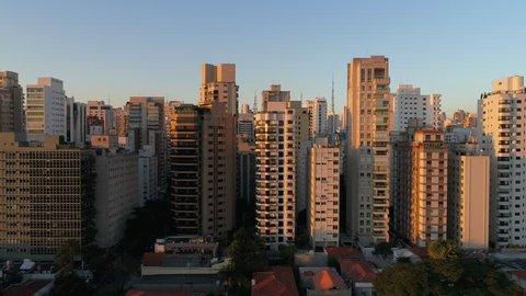 Aerial View of Sao Paulo city, Brazil