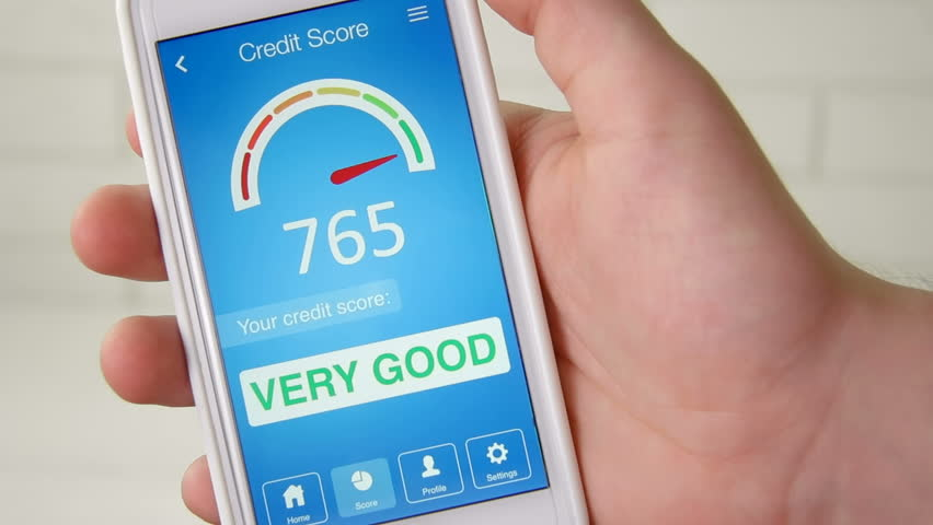 Checking credit score on smartphone using application. The result is VERY GOOD | Shutterstock HD Video #28549729