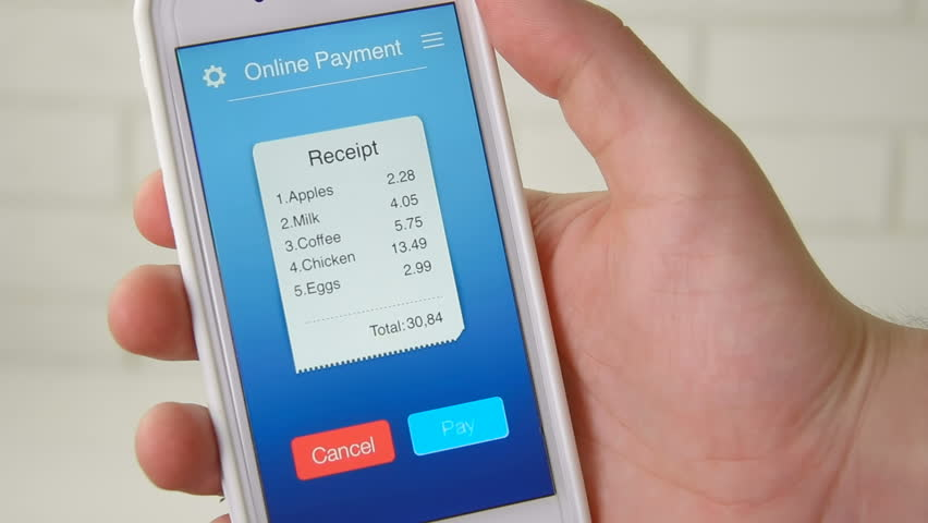 Paying for bill from a grocery store using mobile application on a smartphone | Shutterstock HD Video #28550569