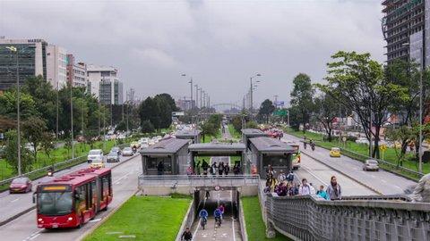Transmilenio, Public, Transport, Bogota, colombia,