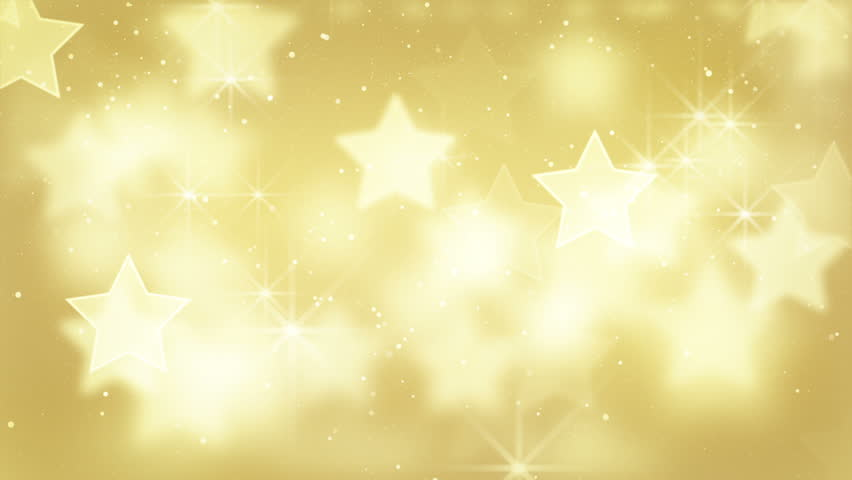Gold bokeh stars and particles loop | Shutterstock HD Video #2862739