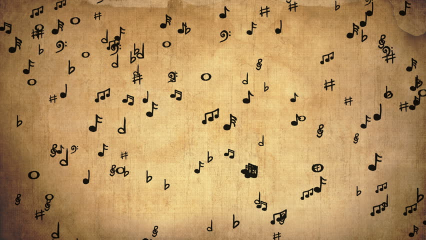 Music Notes On An Old Stock Footage Video 100 Royalty Free 28689979 Shutterstock