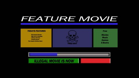 Illegal Music Download Stock Video Footage - 4K and HD Video