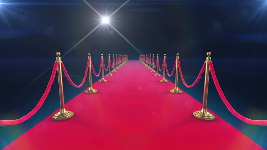 Unrolling Red Carpet animation and paparazzi camera flashes. #2871319