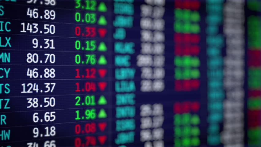 Stock Market. Shares are traded in the stock exchange | Shutterstock HD Video #28771669