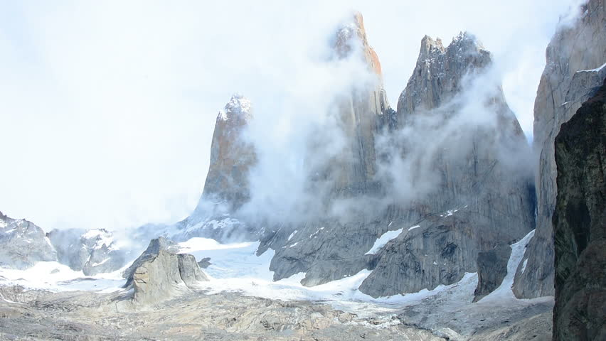 A time-lapse of the three towers of Torres Del Paine