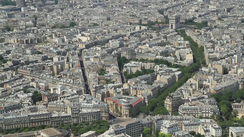 PARIS NOVEMBER Aerial Establishing Shot Of The Louvre Museum - Paris port au prince