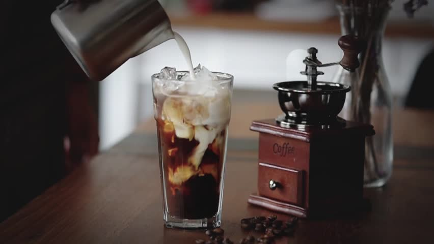 Ice Espresso coffee cinemagraph