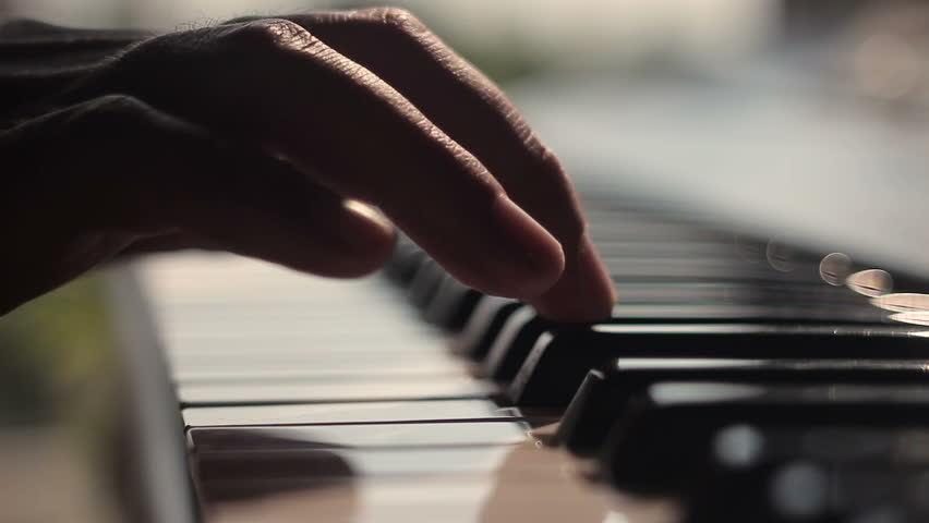 Piano played by a musician. Close-up #28873819