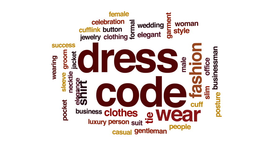 Dress Code Animated Word Cloud Text Design Animation Stock Footage Video 28623916 Shutterstock
