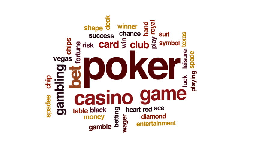 Poker animated word cloud, text design animation. | Shutterstock HD Video #28913809