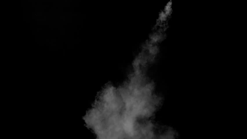 White water vapour on a black background. Close-up shot #28955989