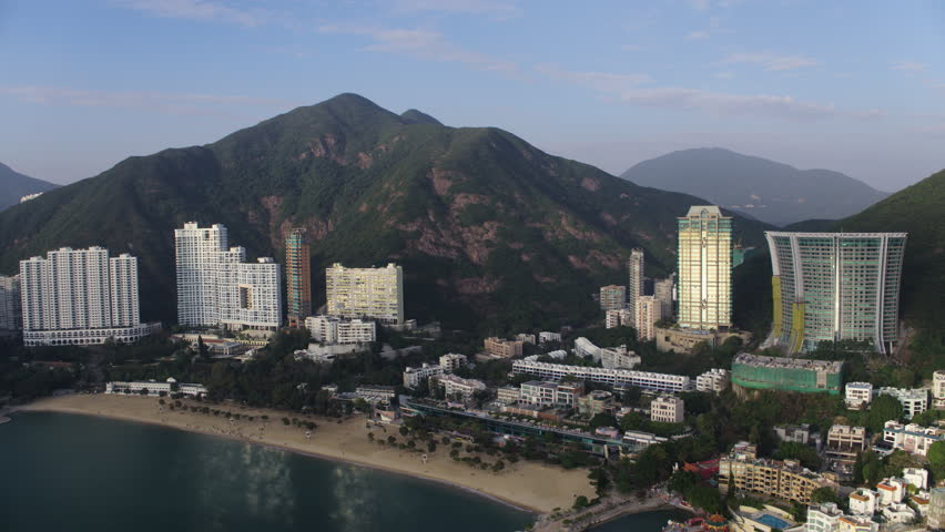 Hong Kong Aerial v148 Flying low over Repulse Bay area panning | Shutterstock HD Video #28978999