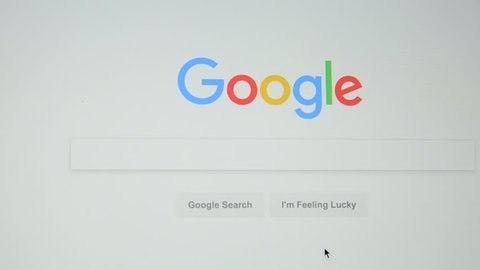 Milan, Italy - July 6, 2017: Google.com homepage. Google's empty search bar.