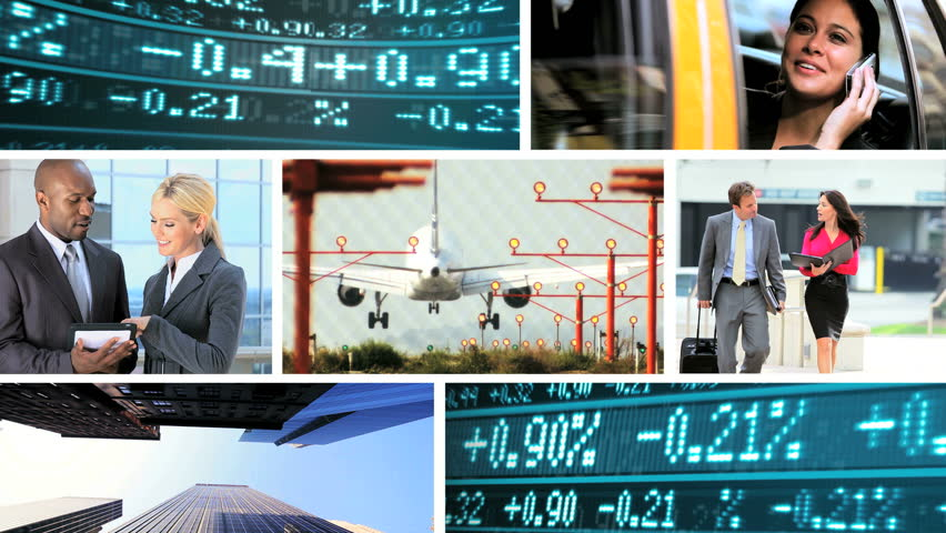 Montage collection of stocks and shares being traded by business men and woman motion graphics | Shutterstock HD Video #2901199