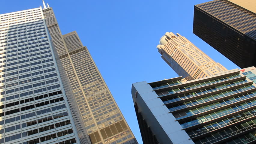 CHICAGO - CIRCA SEP 2012: Looking up to the Willis tower (formerly Sears Tower).
