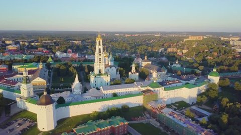 Trinity Lavra of St. Sergius - panoramic aerial view in Sergiev Posad, Moscow oblast,  Russia