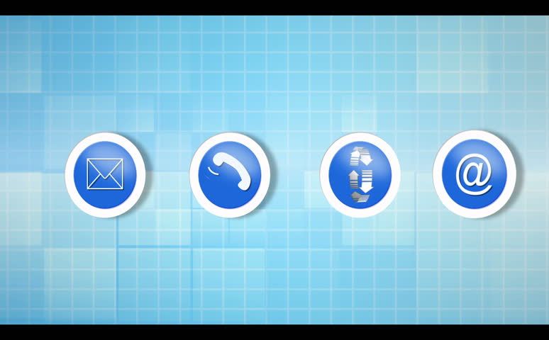 Electronic communication montage animation with video examples on blue background | Shutterstock HD Video #2910109