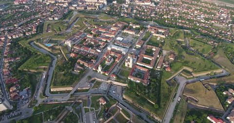 Alba Iulia Romania video footage from a helicopter