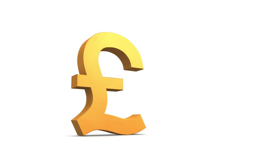 Stock Video Of Broken Pound Symbol 2915689 Shutterstock