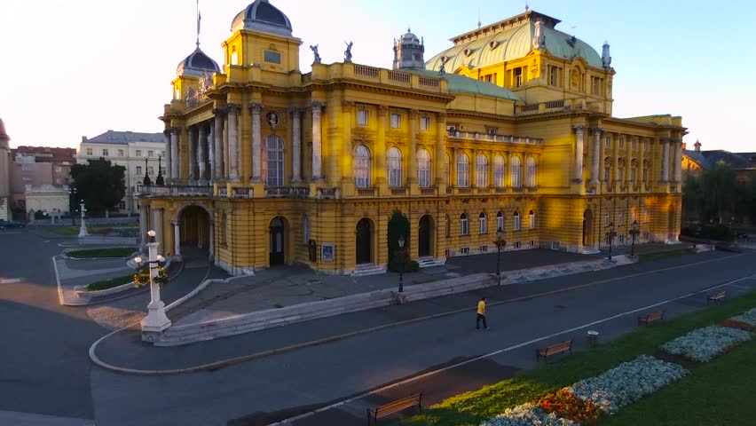 The Croatian National Theatre. Zagreb, Croatia.