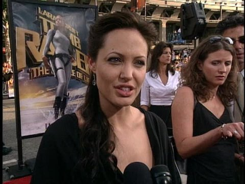 Hollywood, CA - JULY 21, 2003: Angelina Jolie walks the red carpet at the Lara Croft Tomb Raider: The Cradle of Life Premiere held at the Grauman's Chinese Theatre