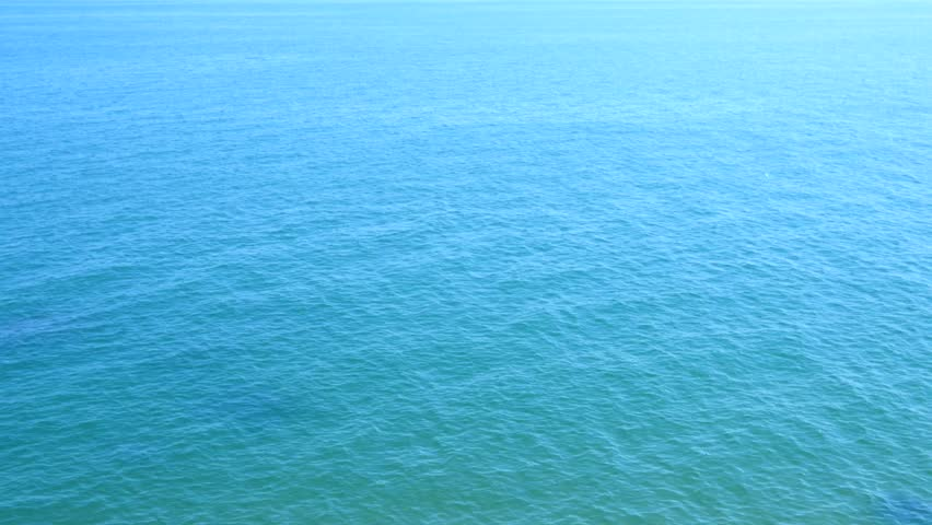 Calm Ocean Background Blue Water With Small Waves 4k
