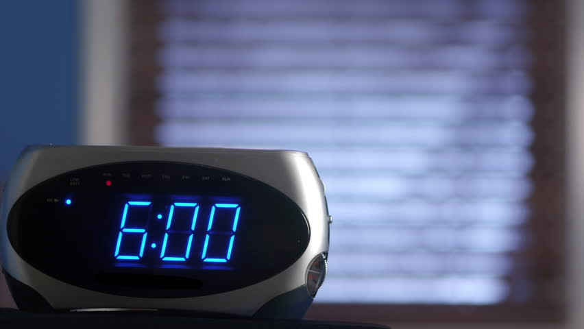 Image result for alarm clock 6 am