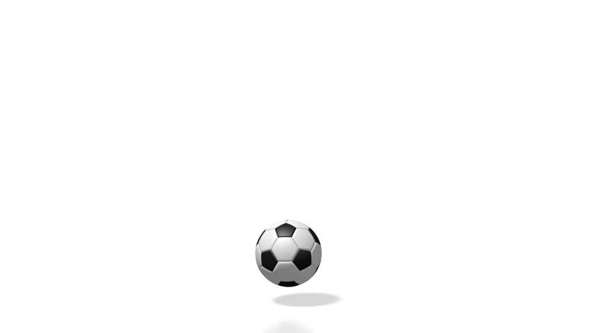 3D illustration/ 3D rendering - bouncing soccer ball.