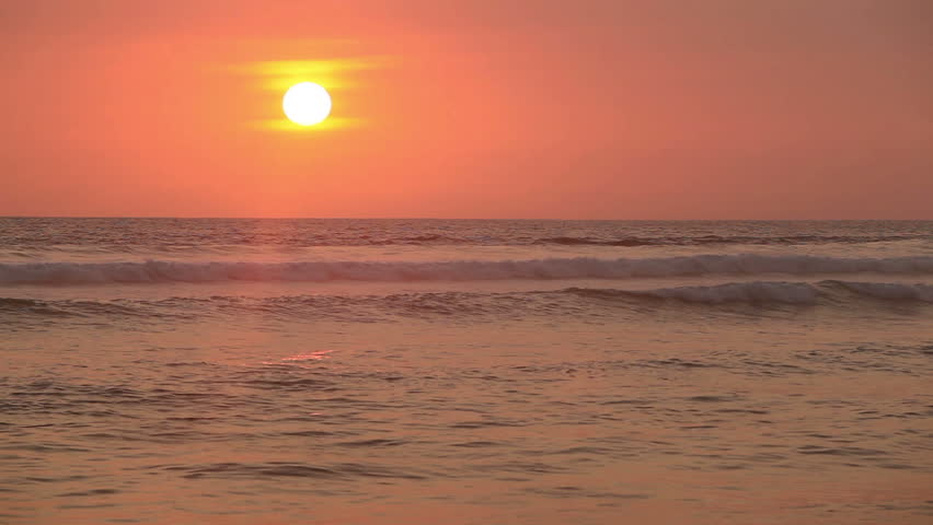 Sunset in Indian ocean at summer vacation